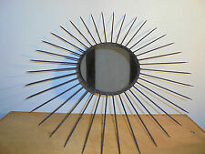 Miroir Soleil 1930 Superbe Pièce de Fer Forgé éra Chaty-Vallauris