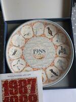Vintage Wedgewood 1988 Calendar Plate -  Sea Birds - Third in Series - Boxed