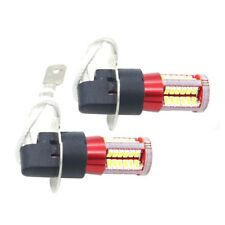 1 pair H3 4041 SMD 57 LED Bulbs XENON White 6000K Car Fog Light Lamp 12V-24V Y8T