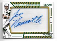 2016 Panini Clear Vision Joe Namath Visionary Signatures Autograph Serial # 7/10