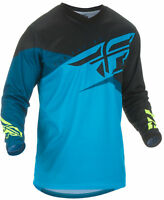 Fly Racing Mens Blue/Black/Hi-Vis F-16 Dirt Bike Jersey ATV UTV MX