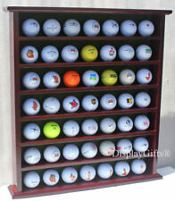 Golf Gifts & Gallery Mahogany 49-Ball Display Cabinet, no door, GB20-MAH