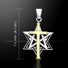 Cross Pentacle Star of David Pendant by Peter Stone