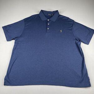 Polo Ralph Lauren Shirt Mens 2XB Polo Navy Blue Short Sleeve Pony Logo