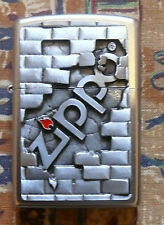 NOVELTY THE WALL EMBLEM ZIPPO LIGHTER FREE P&P FREE FLINTS
