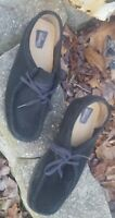 Sz 10 M Clarks Orig Womans Gum Sole Black Suede Shoes - Charles F Steed England