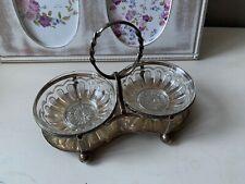 Victorian Antique 1896 Beresford Silverplated Cruet / Condiment Candy Nut Bowl