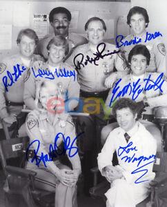 CHiPs Cast Signed 8x10 Autographed Photo reprint
