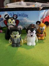 "Disney Vinylmation 3"" Park Set Spooky Series Lot Mickey Minnie Mouse Goofy Pluto"