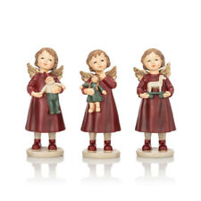 Dekofiguren 3 süße Engel mit vergoldeten Flügeln - Figuren Weihnachtensdeko