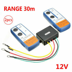 12V Wireless Winch Remote Control Kit Handset Switch for Car Truck ATV Jeep SUV'