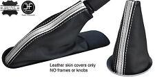 BLACK WHITE STRIPE TOP GRAIN LEATHER BOOT SET  FOR BMW MINI COOPER R55 R56 R57