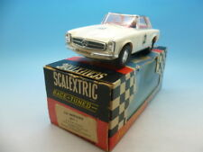 Scalextric C32 Mercedes 25sl in white, very clean car and boxed