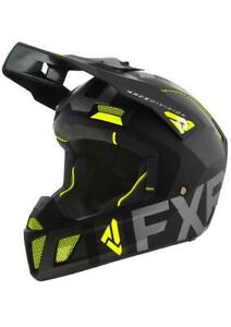 FXR CLUTCH EVO HELMET  - Black/ Hi Vis - Size XL  -  New