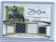 '12' Prime-Brian Quick RC autograph/quad jersey Level 5 /250-Rams/Appalachian St