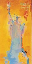 PETER MAX POSTER - ORANGE LIBERTY 1981  COOL AND COLORFUL-FACSIMILE SIGNED CT#56