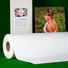 "24"" x 26m 340gsm Inkjet COTTON Canvas Roll (Matte) Water Resistant 100% Cotton"
