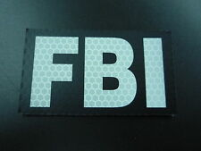"""FBI REFLECT SOLAS ON  BLACK solasX PATCH 2ND 3.5""""X2"""" WITH VELCRO® BRAND FASTENER"""
