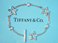Tiffany & Co Plata esterlina Toggle pulsera de enlace de estrella
