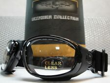 MOTORCYCLE ATV BIKER SPORT PADDED Clear Lens DAY NIGHT RIDING GLASSES GOGGLES