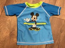 Disney Mickey Mouse Swim Shirt UV Protection Size 3-6 Months Surfs Up