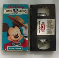 Walt Disney Mickey Mouse Donald Goofy Pluto Cartoon Classics VHS Movie 1988