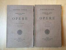 Lorenzo De' Medici - Opere (2 volumi) - Laterza 1939