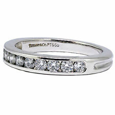 TIFFANY & CO Wedding Band LEGACY DIAMOND PLATINUM  .38CT %100 Original