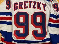 Autographed UDA Wayne Gretzky New York Rangers jersey