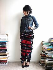 Comme des Garcons AW 2011 Narrow Skirt Made of Vintage Scarves RARE XS S