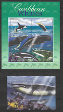 St. KITTS 2001, Whales, MS + SS , MNH**(061)