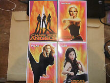 CHARLIE'S ANGELS 4 DVD POSTCARDs TRADING CARDS DIAZ BARRYMORE MOVIE UK EXCLUSIVE