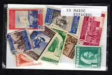 Maroc Espagnol - Spanish Morocco 10 timbres différents