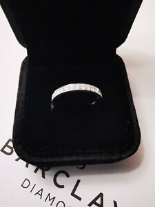 PALLADIUM 950 DIAMOND WEDDING / ETERNITY ring 15 diamonds with Certificate