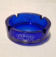Peroni Nastro Azzurro Beer Advertising Blue Glass Ashtray
