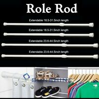 2-6PCS Curtain Tension Rods | 15 to 45 inches(Approx.) Spring Curtain Rod Set