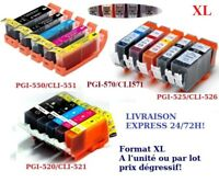 Cartouches non OEM Canon Pixma PGI525/CLI526 PGI520 CLI521 PGI550 CLI551 570/571