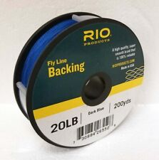 RIO 20 LB 200 YARDS DACRON BACKING IN DARK BLUE FLY REEL BACKING - FREE US SHIP