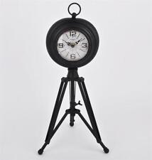 Orologi da tavolo nero analogico in metallo