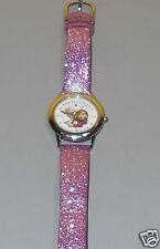 Disney Frozen Strong Heart Strong Bond Anna & Elsa Stainless Steel Glitter Watch