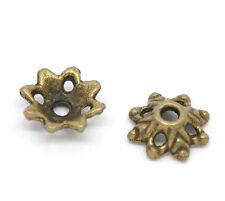 150 Perles Coupelles Fleur Couleur bronze 8x3mm
