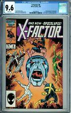 X-FACTOR 6 CGC 9.6 WP 1st FULL APOCALYPSE Alliance Of Evil NEW CASE Marvel 1986