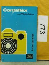 Zeiss Ikon Contaflex Super 35mm SLR Original Manual In English