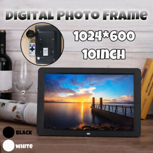 "10"" Digital Photo Frame Metal Frame TFT LCD Screen Picture Video Player +   H}}"
