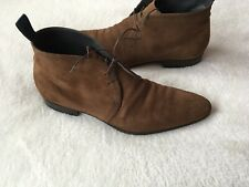 Hugo Boss Mens Size 9 Suede Pointed Toe Chukka Ankle Boots ⭐️
