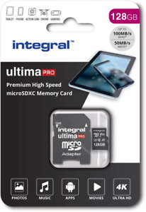 Integral 128GB Micro SD Card 4K Video Premium High Speed Memory Card SDXC Up to