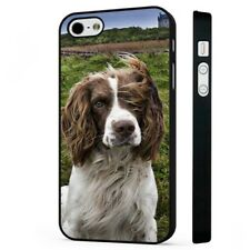 Springer Spaniel Dog Cute Floppy Ears BLACK PHONE CASE COVER fits iPHONE