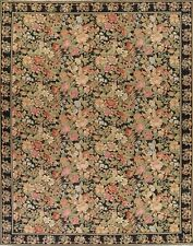 Palace Sized 12'x16' Floral Savonnerie Aubusson Chinese Oriental Hand-Woven Rug