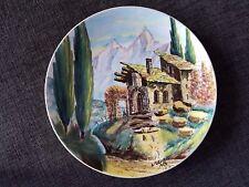 VINTAGE DEAM di Laveno a mano piatto dipinto a mano da L. descrovi Italy Pottery