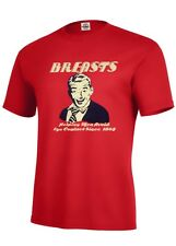 FUNNY T SHIRT S-5XL BREASTS HELPING MAN AVOID EYE CONTACT SINCE 1865 MANY COLORS